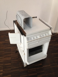 Burn in / Malte Bartsch, 2010 Bosch fridge, electricity - 56cm x 87cm x56cm