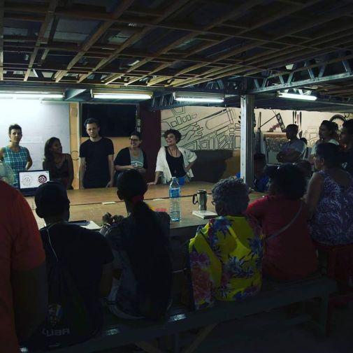 presentando el proyecto en LASA